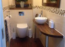 Cloakroom toilet renovation in Haywards Heath, West Sussex