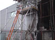 Emergency Scaffold erected after a Fire Damage