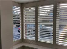 Box bay Romsey with louvers open The Great Shutter Co.