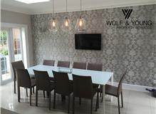 Kitchen/Diner Painted and decorated by Wolf & Young Property Services in Elstree