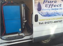 100 % pure water system mounted in our van
