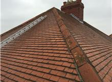 Worn ridge tiles to be removed