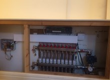 Underfloor heating manifold upgrade with Honeywell Evohome controls