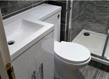 Vanity Basin & Toilet and Shower
