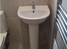 Basin & Pedestal, 1/2 Tiled Wall