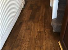 Hallway Oak floor finished with Bona Craft Oil in Clay