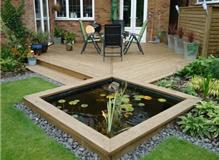 Decking and a Pond in London