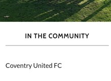 Proud Sponsor of Coventry United FC