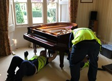 moving a steinway concert baby grand piano. value £25,000