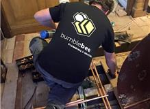 Our founder and head engineer Ross, during one of our big installations.