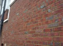 Repointing struck off to leave a concave finish