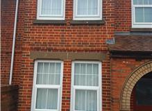 Front elevation with lime based mortar on Flemish Bond brickwork