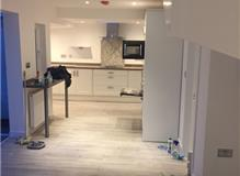 kitchen and v groove flooring