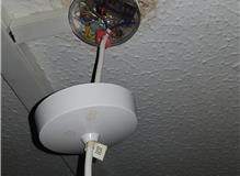 light fitting effected by water leak from above