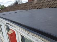 Installation of firestone rubber roof on dorma above bedroom
