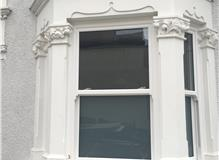 UPVC Bay Sash Window Installation.