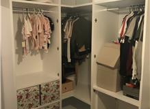Bespoke 'L' shape wardrobes