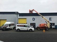 Industrial Roof Cleaning with High Access Machinery