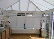Conservatory Duette roof blinds and INTU Duette blinds fitted by brite blinds ltd