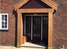 Front entrance porch made from Oak Sleepers