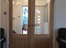 Oak glazed internal doors