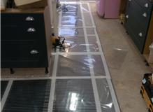 Electric mats & vapour barrier