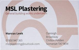 MSL Plastering
