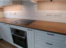New electrical installation in the kitchen