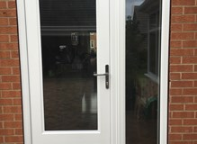 Ultimate Classic Rockdoor in White with Clear Glazing  Ultimate Classic Rockdoor in White with Clear
