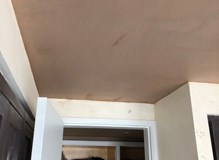 New ceiling plastered