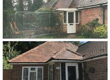 Before and after shot of a single storey extension