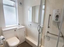 Full bathroom installation for elderly client.