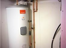 Hot water unvented cylinder installation