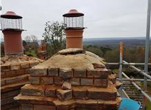 Honey bee colony in the chimney
