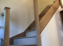 Oak and glass staircase completed