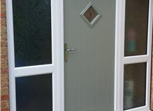 Olive cottage style composite door