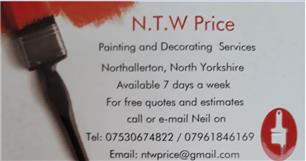 N.T.W Price Painting & Decorating