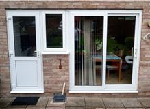Total kitchen redesign so doors & window had to be changed in Southampton