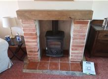 New rustic fireplace