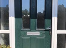 UPVC Green Door-Before is was sprayed Grey