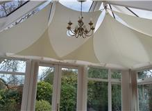Inshade conservatory sail blinds installed near Stamford