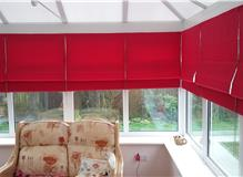 roman blinds installed today looking great
