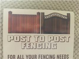 Post to Post Fencing