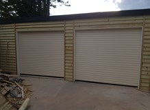 Supplied & fitted 2 roll up garage doors