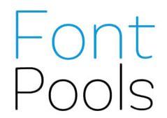 Font Pools