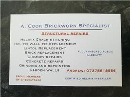A.Cook Brickwork Specialist Limited