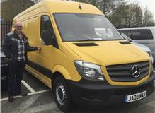 Boss John collecting a new van