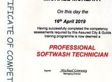 Softwash Training Certificate
