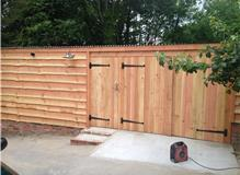 Timber garage built