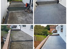 Rubber roof before and after